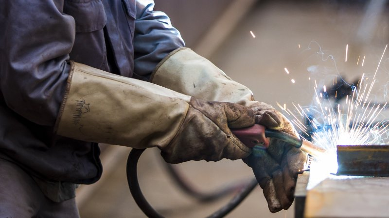 clean leather welding gloves
