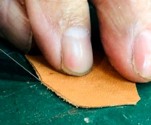 cutting leather leather feather vane
